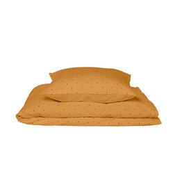 Liewood Ingeborg Bed Linen Junior - Classic dot mustard