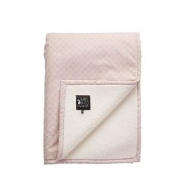 Mies & Co SOFT TEDDY BLANKET BIG PRETTY PEARLS CHALK PINK 110X140