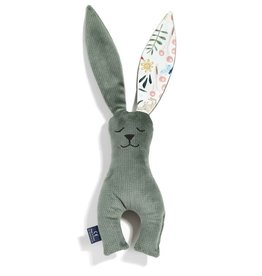 La millou Velvet collectie speeltje konijn khaki zoo