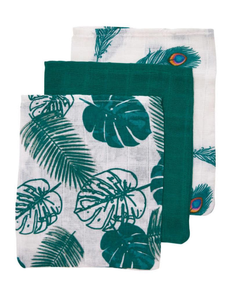 Meyco Washandjes Tropical Leaf (set van 3)