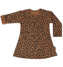 Van Pauline Dress Caramel Spots Long