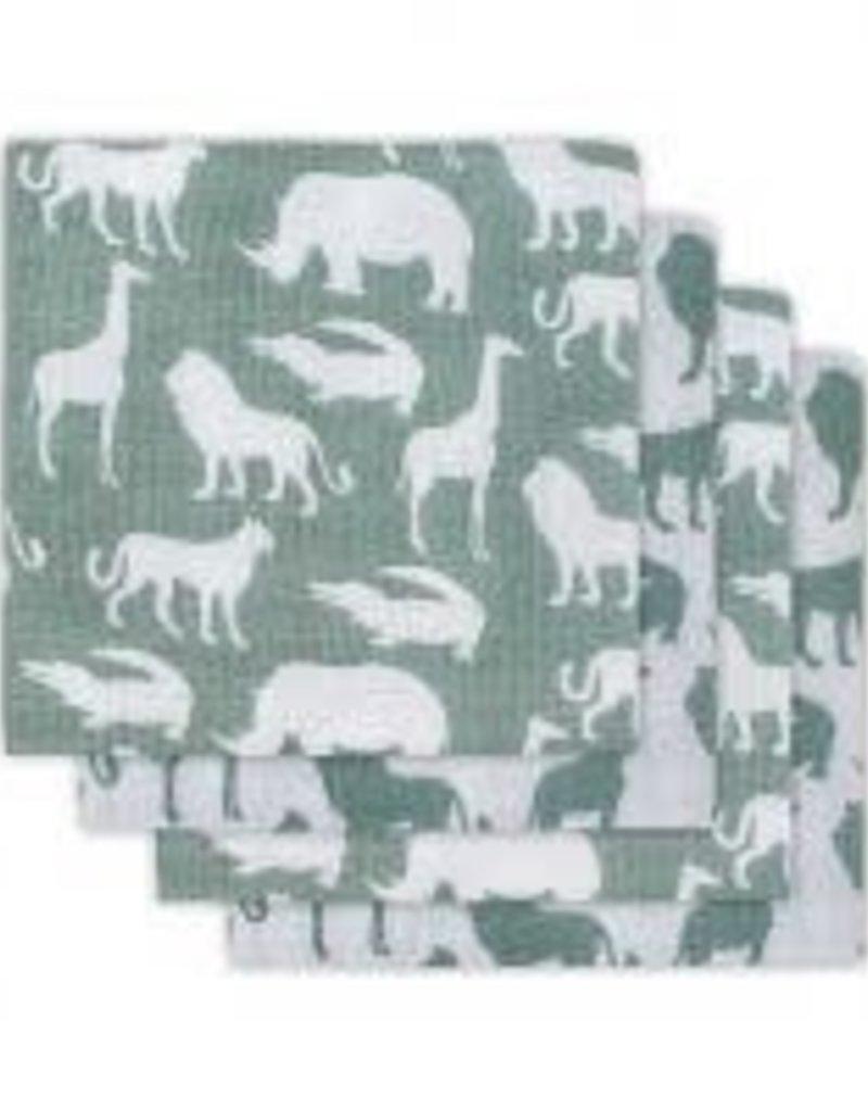 Jollein Hydrofiel luier Safari forest green (4pack)