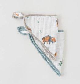 Little Unicorn Cotton muslin bandana bib 2 pack Bison set