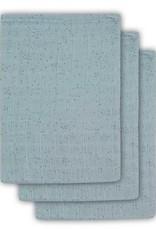 Jollein Hydrofiel washandje Mini dots stone green (3pack)