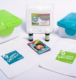 Cheeky Wipes Reusable Cloth Baby Wipes Workhorse WHITE All-In-One Kit From Cheeky Wipes