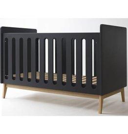 Pericles Baby Bed 120x60cm Omvormbaar tot zitbank - Pure Black
