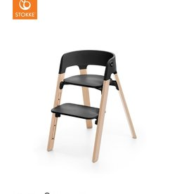 Stokke Steps eetstoel Black/natural