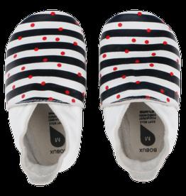 Bobux Slofjes Spots and Navy Stripes SMALL