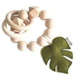 Bezisa Houten rammelaar moss green leaf