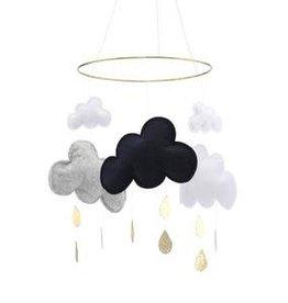 Konges slojd Wolken Mobiel – Navy Grijs Melange Wit