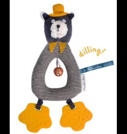 Moulin Roty LES MOUSTACHES Bijtring rammelaar kat grijs Alphonse