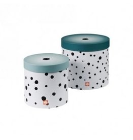 Done by Deer Round box happy dots-blue 2pack
