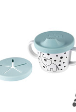 Done by Deer Silicone spout/snack cup Elphee Blue