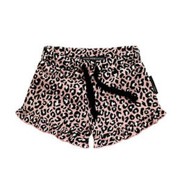 Your wishes Ruffle leopard pink short