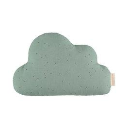 Nobodinoz Cloud Cushion Toffee sweet dots/eden green