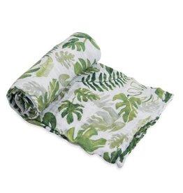 Little Unicorn Cotton musline swaddle tropical leaf 120 x 120 cm