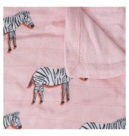 Little Unicorn Deluxe misline swaddle zebra 120 x 120cm