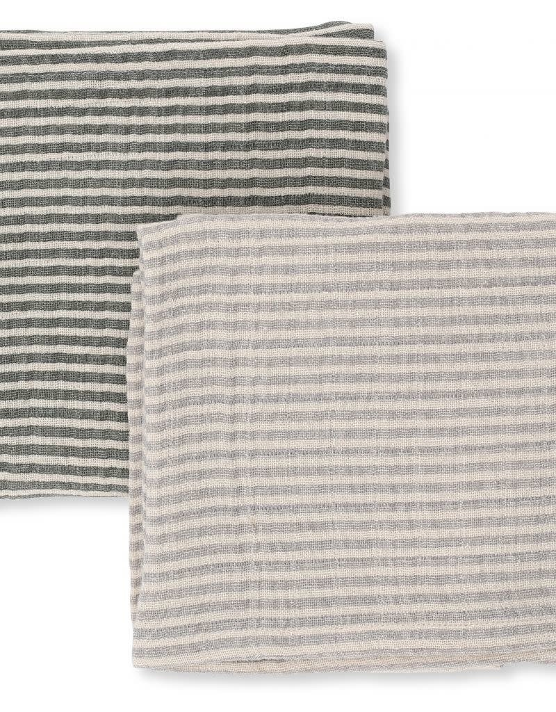 2 pack muslin cloth striped boys