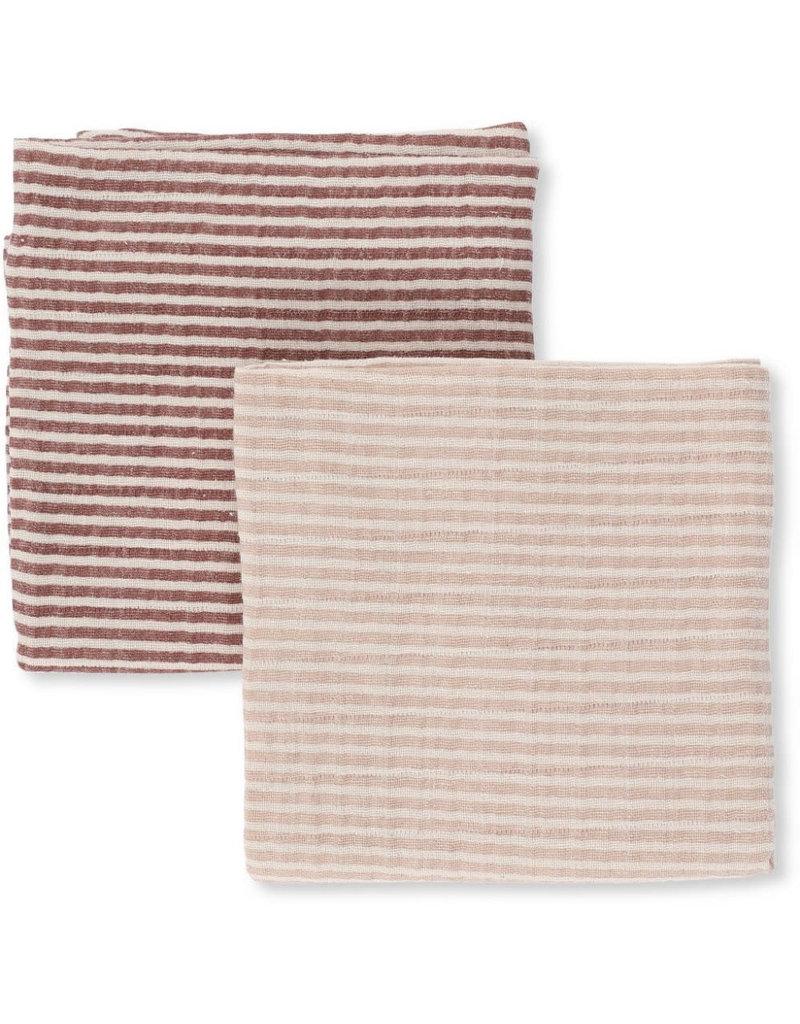 Konges Sløjd 2 Pack Muslin Cloth Striped