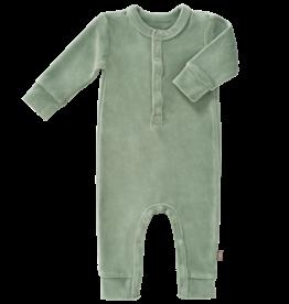 Fresk Pyjama zonder voeten velour aqua green