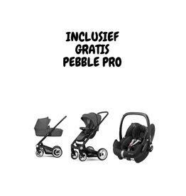 Mutsy Icon black/grey grip Vision Titanium grey (incl. gratis Pebble Pro Ess. Black)