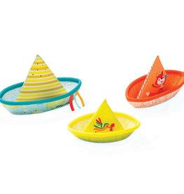 Lilliputiens Drie bootjes waterpret