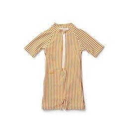 Liewood Max Swim Jumpsuit  Mustard/white 56/62