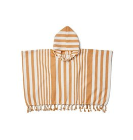 Liewood Roomie poncho striped mustard