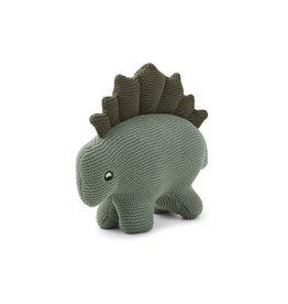 Liewood Stego dino knit teddy faune green
