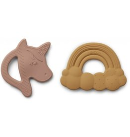 Liewood Roxie silicone teether 2 pack rose mix