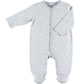 Noukies Pyjama grijs met bolletjes