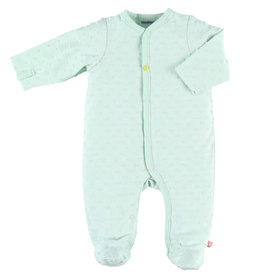 Noukies Pyjama mint met bolletjes