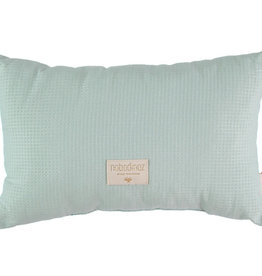 Nobodinoz Laurel cushion honey comb 22x35 aqua