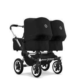 Bugaboo Donkey 3 twin aluminium/black GRATIS: 2x pebble pro + 2x voetenzak