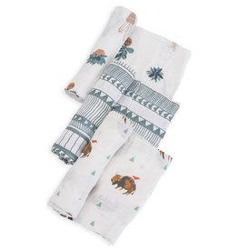 Little Unicorn Cotton muslin swaddle 3 stuks