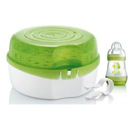 Mam Microwave steam sterilliser green + 1 flesje 160ml