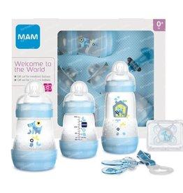 Mam Welcome to the world babyset  blauw