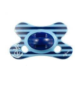 Difrax Fopspeen natural 0-6m blauw anker