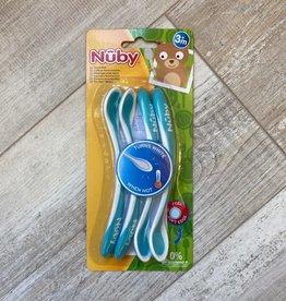 Nuby Cuillères résistantes à la chaleur 4 pack aqua