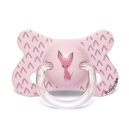 Suavinex Silicone speen 4-18m natural pink chiwawa