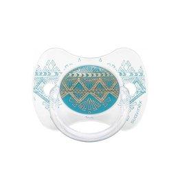 Suavinex Silicone speen couture 0-4m dental light blue