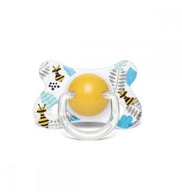 Suavinex Tétine silicone 4-18m abeilles normales bleu