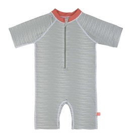 Lassig Lsf short sleeve sunsuit striped coral