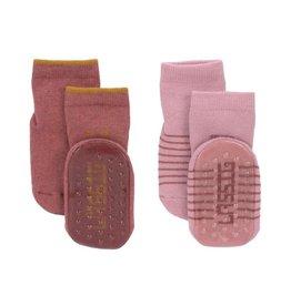 Lassig Anti-slip socks rosewood/rose