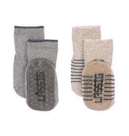 Lassig Anti-slip socks grey/beige