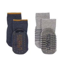 Lassig Anti-slip socks blue/grey