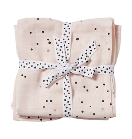 Done by Deer Burp cloth, 2-pack, Dreamy dots, powder 70x70
