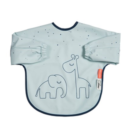 Done by Deer Sleeved bib 6-18m dreamy dots grey