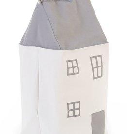 Childhome Speelgoedzak Huis - Polyester - Grijs Ecru