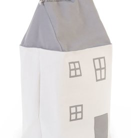Childhome Toy Bag House - Polyester - Gris écru